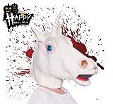 TK Gruppe Timo Klingler Halloween Horror Maske ab 18 Jahren für Herren und Damen aus Latex Einhorn Kostüm Verkleidung