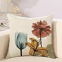 Decorativa almohada Flores Impresión Impreso Sofá Decoración Cojín Caso agarre Bar Funda de almohada cojín de móvil Salón Drei Blumen