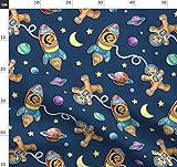 Lebkuchen, Astronaut, Weltraum, Sterne, Kekse, Rakete,