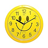 Quarz Design Smiling Wand Uhr Wanduhr Analog Quarzlaufwerk Happy Face Rund NEU