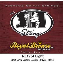 SIT RL1254 - Juego de cuerdas para guitarra acústica y guitarra eléctrica de bronce, 12-54