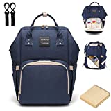 Diaper Bag Backpack, Multi-Function Waterproof Baby Nappy Changing Bag with Insulated Bottle Pocket