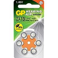 Gp Batteries Gpza13 Da13/Ac13/Za13 Boy Işitme Cihazı Kulaklık Pili, 1.45 Volt, 6'Lı Kart
