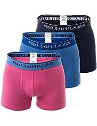 POLO RALPH LAUREN Shorts pour Homme, Classique, Solide - Marine / Bleu / Rose