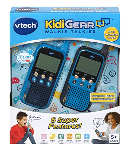 VTech KidiGear Walkie Talkies for Kids, Outdoor 65-foot Long Distance Walkie Talkies with Secure Digital Connection, Suitable for Boys & Girls 5, 6, 7, 8+ Years Old