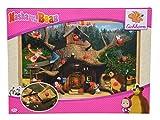 Eichhorn 109304085 - Mascha und der Bär Steckpuzzle, Entdecker Puzzle mit 12 Steckteilen, 30x20cm