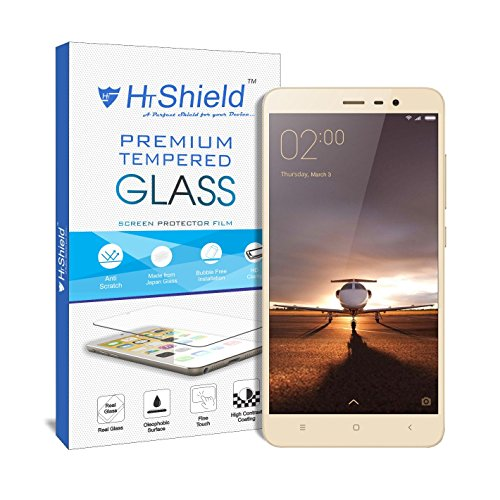 "HTShield HTPGXRN3 [2.5D Round Edge] Premium Tempered Glass For Xiaomi Redmi Note 3 (5.5"" Inch Display)"