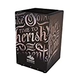#6: Echoslap GFX Letter Cajon, Black, Hand Crafted, Adjustable Snare, Deep Bass, Maple Frontplate - GFX7-LET