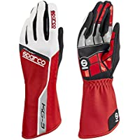 Sparco 00255306RS Guantes, Rojo, 06
