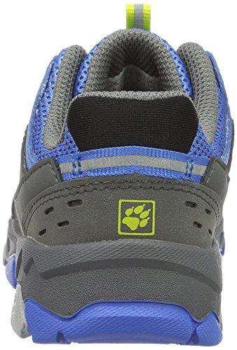Jack Wolfskin Mtn Attack 2 Low K, Chaussures de Randonnée Basses mixte enfant Bleu (Wave Blue)