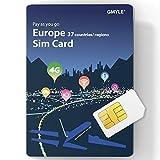 GMYLE GData - Tarjeta SIM Recargable 4G con Tarjeta SIM de repago de 15 GB / 20 días (37 países y regiones)