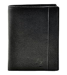 Leather Zentrum Mens Black Wallet