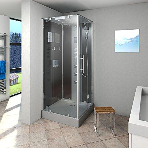 AcquaVapore DTP6038-3303R Dusche Dampfdusche Duschtempel Duschkabine -Th. 90x90, EasyClean Versiegelung:JA mit 2K Scheiben Versiegelung
