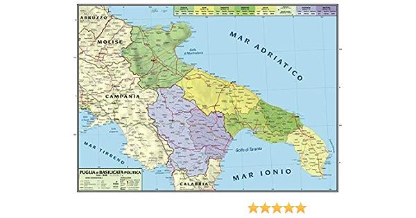 Puglia Cartina Geografica Politica.Carta Geografica Murale Regionale Puglia Basilicata 100x140 Bifacciale Fisica E Politica Amazon It Cancelleria E Prodotti Per Ufficio