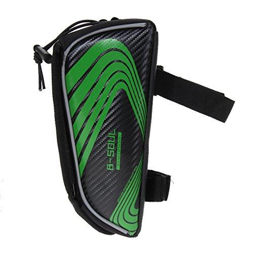 Demiawaking Fahrradtasche und Handy-Halterung geeignet für ALLE Fahrradtypen Grün