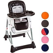 TecTake Confort Chaise Haute de Bébé Pliable - diverses couleurs au choix