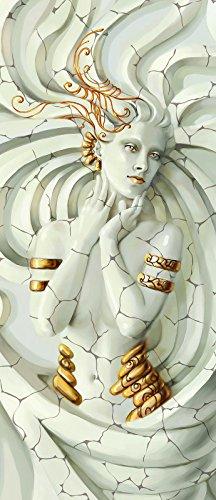FORWALL VLIESFOTOTAPETE Panel Tür Türfototapeten Tapete Vlies | Welt-der-Träume| Medusa | Vet (211 cm. x 91cm.) | Door Mural Photo Sticker 10211VET-AW | Beige Gold Skulptur Kunst Medusa Barock-skulptur