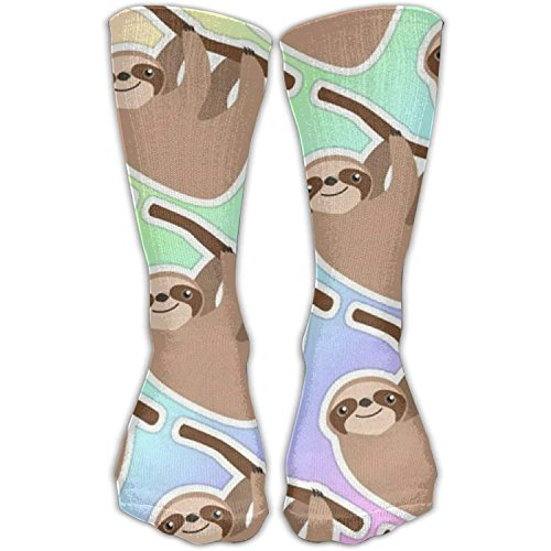 hat pillow Unisex Cute Cartoon Sloth Printed Sports Crew Socks Athletic Casual Sock -