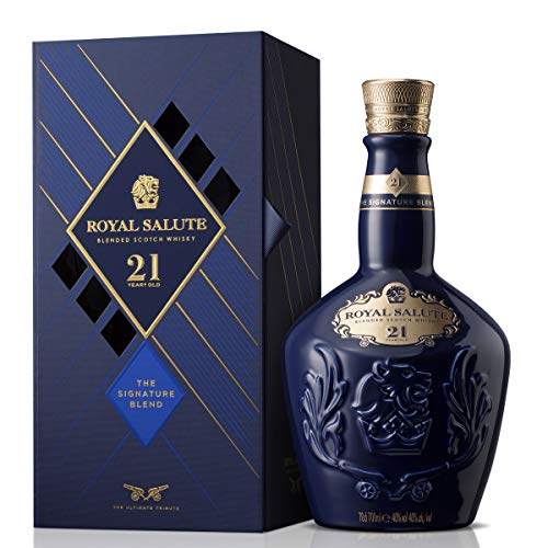 Chivas Royal Salute Blended Scotch Whisky 21 Year Old mit Geschenkverpackung, 21 Jahre gereifte Premium-Whisky Komposition aus Malt & Grain Whiskys (1 x 0,7 L) Royal Metall