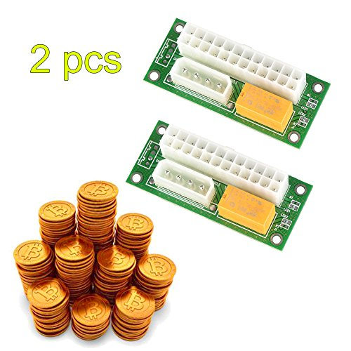 Dual PSU Starter Board, ATX 24Pin zu SATA Molex 4Pin Dual PSU Netzteil Sync Starter Extender Kabel Karte für BTC Miner Machine Dual-sync-kabel