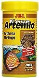 JBL NovoArtemio 30264 Ergänzungsfutter für alle Aquarienfische gefriergetrocknete Artemia-Krebse, 250 ml