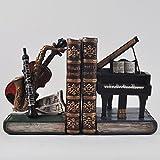 Clásica Instruments estante organizador sujetalibros de - Hipster Retro de almacenamiento Vintage de oficina Study Música y DVD Piano