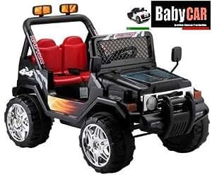 babycar 618 n elektrisches auto f r kinder jeep safari mit fernbedienung 12 volt schwarz. Black Bedroom Furniture Sets. Home Design Ideas