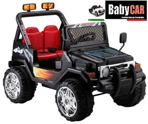 auto-elettrica-per-bambini-jeep-nera-12-volt-2-posti-con-telecomando