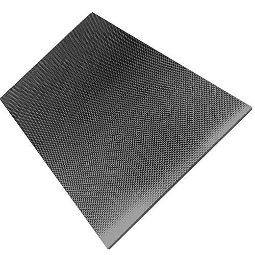 KKmoon Carbonplatte Carbonfaserplatten 230 * 170 * 0,5/1,0/1,5/2,0/2,5/3,0 mm (glänzend, matt)
