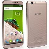 "CUBOT Dinosaur - Smartphone Libre 4G Android 6.0 (Pantalla táctil 5.5"" HD, Dual SIM, Cámara 13Mp, 4150mAh batería, 3GB Ram, Quad Core,1.3 GHz), color Dorado[ CUBOT OFICIAL ]"