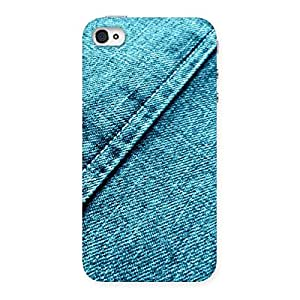 Stylish Denim Diagnal Print Back Case Cover for iPhone 4 4s