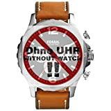 Fossil orologio Band Swing Arm Band LB di jr1486ricambio originali Band JR 1486Orologio Bracciale in pelle 24mm Marrone