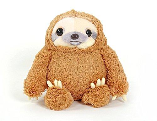 Yunnasi cuddly peluche pupazzo morbido peluche fuzzy bradipo giocattolo per bambini o adulti marrone bianco, brown, 50 cm