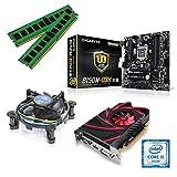 one Aufrüstkit · Intel Core i5-7500, 4 x 3.40GHz · 2 GB AMD Radeon R7 240 · 16 GB DDR4 RAM · Gigabyte GA-B250M-D3H · Kabylake · Aufrüstset · Mainboard Bundle · PC Tuning Kit
