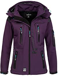 e7d5c31a1302 Geographical Norway Damen Softshell Outdoor Jacke Tassion abnehmbare Kapuze
