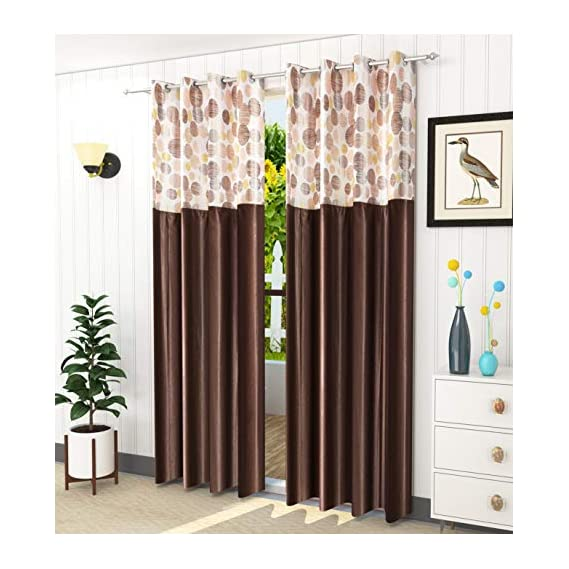 LaVichitra 2 Piece Eyelet Polyester Curtains