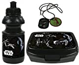 Star Wars Set TIE Fighter Halskette + Trinkflasche + Brotdose Brotbüchse Lunchbox Vesperbox