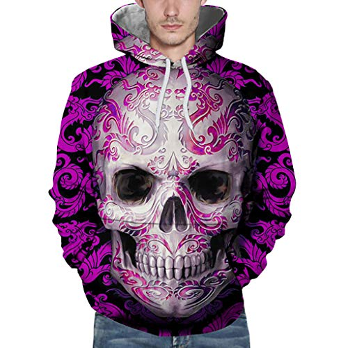 SANFASHION Damen Herren Kapuzenpullover Unisex Loves 'Sweatshirt Casual Herbst Winter Mode 3D Druck Langarm Hoodies Outwear Pullover