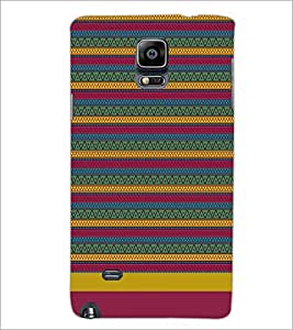 PrintDhaba Tribal pattern D-1886 Back Case Cover for SAMSUNG GALAXY NOTE 2 (Multi-Coloured)