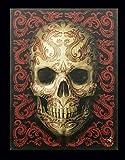 Leinwand Bild mit Totenkopf | Oriental Skull by Anne Stokes | 25 x 19 cm Gothic Fantasy Druck Poster