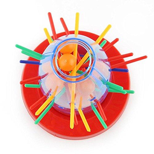 HKFV Kinder Tumbling Rocket Raumschiff Brettspiel Desktop-Spielzeug herausziehen Sticks Fun Toy Ball Rocket Draw Spiel Eltern-Kind-Interaktives Desktop-Spiel