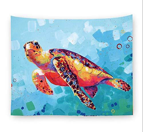 Tapices Tapiz Tortugas De Colores Decoran La Tela De Fondo Alfombra De Pared Toalla De Playa Cortinas Pintura Colgante,150X229 CM