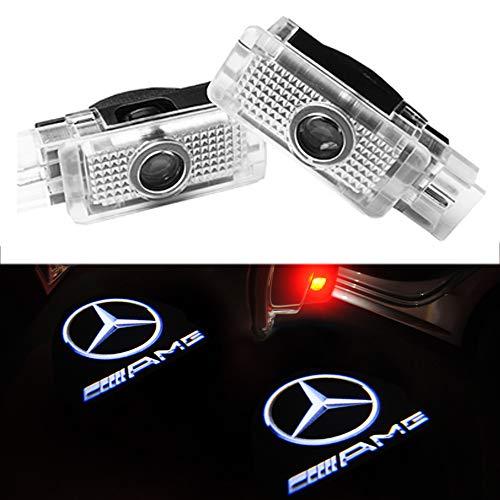 KVCH 2 morceaux de porte de voiture de LED allume le feu de porte de voiture Lampe de bienvenue Plus lumineux Fant/ôme Ombre Logo du projecteur laser Lumi/ères