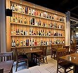 Kuamai 3D Europeo Retrò Armadietto Del Vino Wine Bar Bancone Bar Sfondo Sfondo Anteriore Hotel Ristorante Grande Rivestimento Murale-280X200Cm