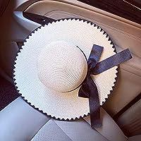 FHHYY sombreo Sombreros de Verano para Mujeres Sombreros para el Sol Damas Sombreros de ala Grande Sombreros para Mujer Sombreros de Paja Anchos Sombreros de Playa Flexibles,D