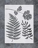 GSS Designs, stencil per pittura da parete, motivo: foglie di felce, 30,5 x 40,6 cm, strumenti per pittura su legno, tela, mobili, decorazione per la casa (SL-055)