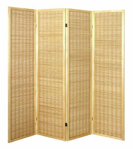 HAKU Möbel 34367 Paravent 182 x 2 x 178 cm, natur / bambus