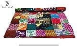 Indische handgefertigt, Bohemian Betten, Tagesdecke, Überwurf Decken, Tagesdecke, Baumwolle Kantha Bettwäsche, Hand bestickt Vintage Patchwork Kantha Quilt