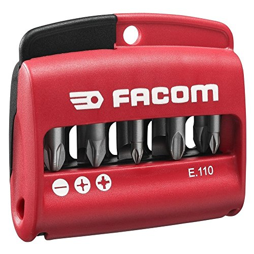 Preisvergleich Produktbild FACOM Bit-Satz, 10-Tlang, in Box, 1 Stück, E.110