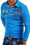 MT Styles Langarm Poloshirt AMBITION T-Shirt R-0682 [Türkis, 3XL]